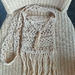 Tassel Shoulder bag. Milk coffee colour. Hand crocheted.