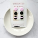 Baby pink and black glitter 3 pack studs