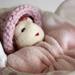 Pink Baby Bunting Doll in Sleeping Bag