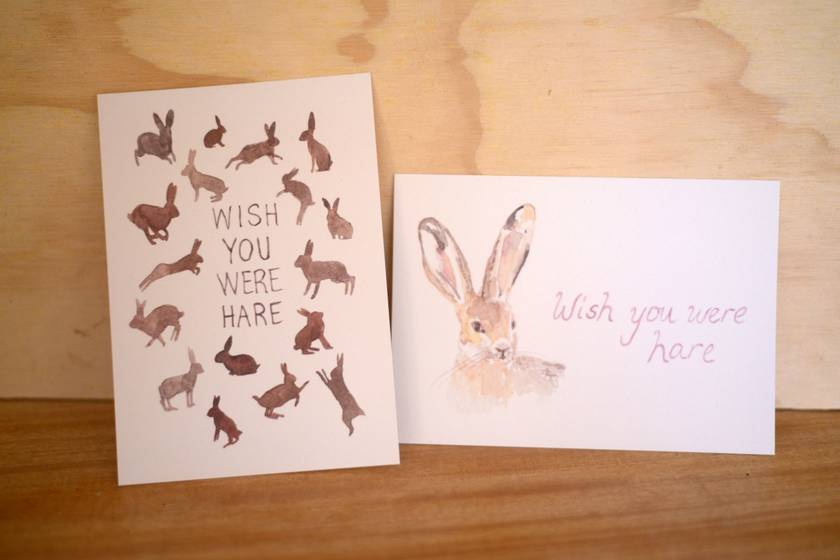 Wish You Were Hare (postcards)