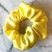 Sunshine yellow satin Scrunchie