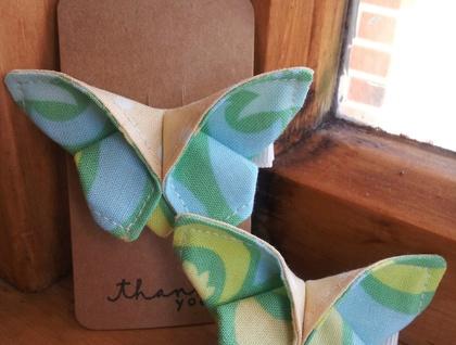"ORIGAMI Butterfly Hair Clip ""Summer Green"""