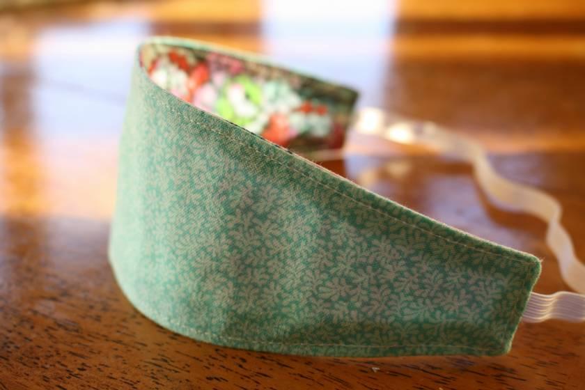 "Reversible Fabric Headband ""Tula Pink Elizabeth"""