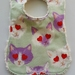 """Chenille Baby Bib """"Crazy about CAT"""""""