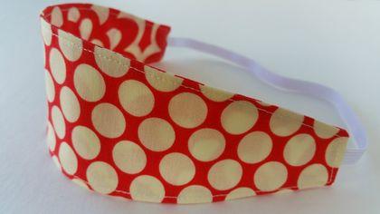 Reversible fabric headband lotus wall flower full moon for Polka dot felt fabric