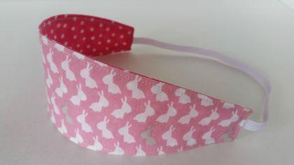 "Reversible Fabric Headband ""Easter Bunny"""