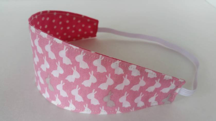 "Reversible Fabric Headband ""Easter Bunny"""