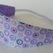 "Reversible Fabric Headband ""Purple Star Flower"""