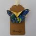 "ORIGAMI Butterfly Hair Clip ""Oriental Blue"""
