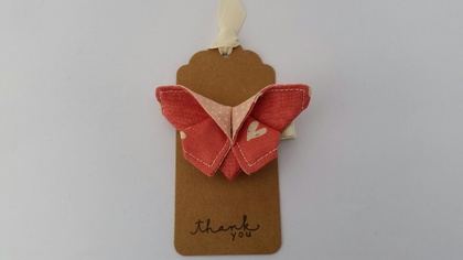 "ORIGAMI Butterfly Hair Clip ""Sweet Love Heart"""