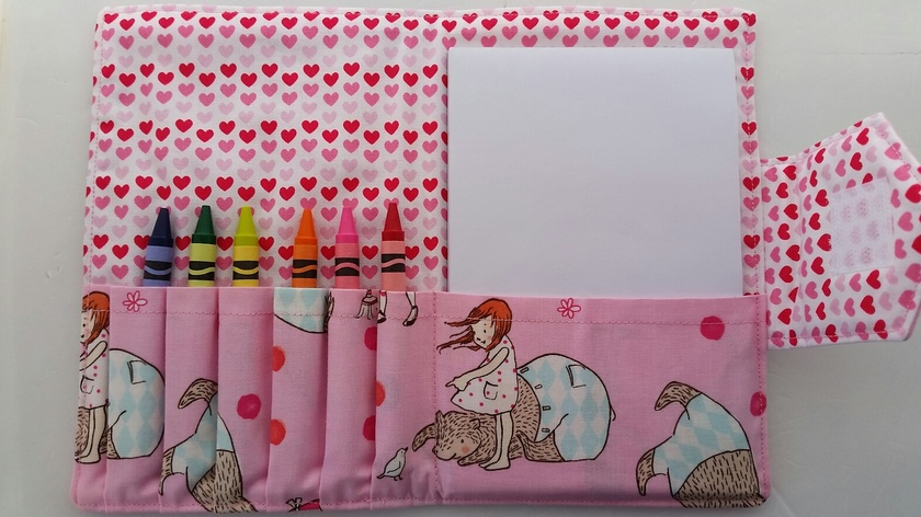 "Crayon Bag ""Mr. Bear in Pink"""