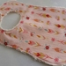 "Chenille Baby Bib ""Cherry Blossom with Feather"""