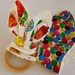 "Natural & Wooden Teething Ring with fabric replacement ""The Hungry Caterpillar"""