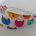 "Reversible Fabric Headband ""Cat lover"""