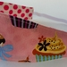 """Reversible Fabric Headband """"Cup Cake Lover"""""""