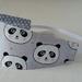"Reversible Fabric Headband ""Sweet Panda"""