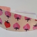 "Reversible Fabric Headband ""Strawberry lover"""