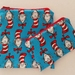 "Reusable Sandwich & Snack Bags Set ""Dr. Seuss Cat in the Hat"""