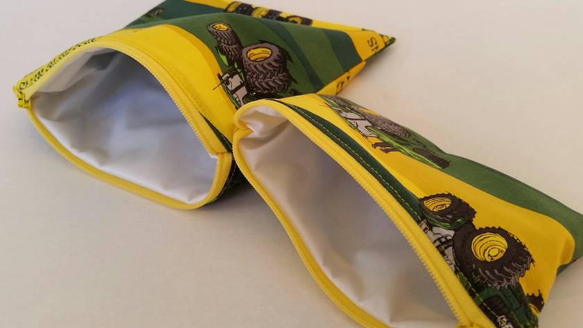 "Reusable Sandwich & Snack Bags Set  ""John Deere"""