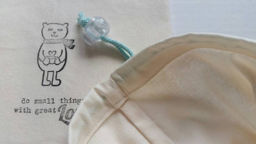 Reusable Organic Cotton Bulk Bin Bags Set with toggle