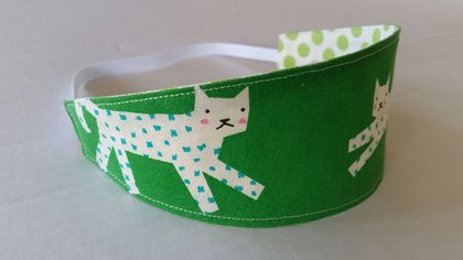 "Reversible Fabric Headband ""L♡VE CAT"""