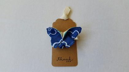 "ORIGAMI Butterfly Hair Clip ""Cornflower Blue"""