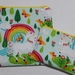 "Reusable Sandwich & Snack Bags Set ""Unicorn with Rainbow"""
