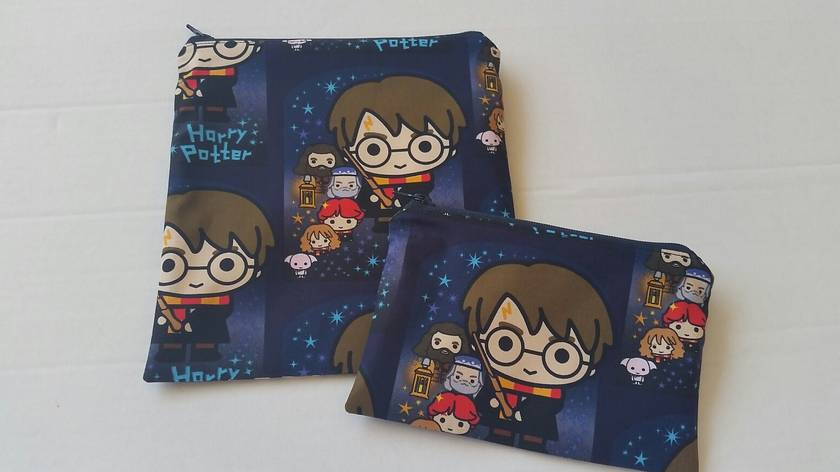 "Reusable Sandwich & Snack Bag Set ""HARRY POTTER"""