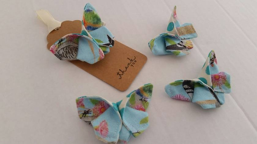 "ORIGAMI Butterfly Hair Clip ""Beautiful birds"""