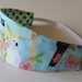 "Reversible Fabric Headband ""Beautiful Birds"""