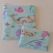 "Reusable Sandwich & Snack Bags Set ""Sea World"""