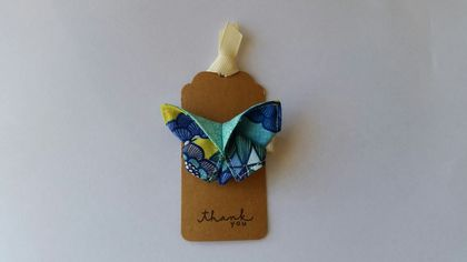 "ORIGAMI Butterfly Hair Clip ""Oriental Blue"""