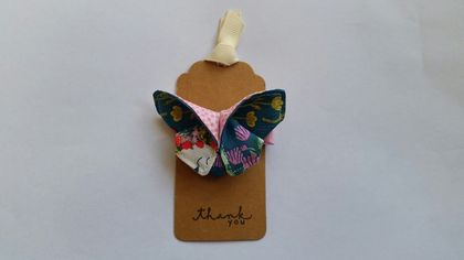"ORIGAMI Butterfly Hair Clip ""Unicorn with flower"""