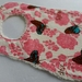 "Chenille Baby Bib ""Pink flower with butterfly"""