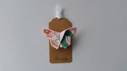 "ORIGAMI Butterfly Hair Clip ""Dragonfruit"""