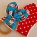 """Natural & Wooden Teething Ring with fabric replacement """"Buzzy Bee"""""""