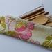 "Bamboo Cutlery Bag ""Fresh Poppies Fuchsia"""