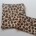 "Reusable Sandwich & Snack Bags Set ""Animal print fabric"""