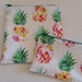 "Reusable Sandwich & Snack Bags Set ""Tropical pineapple"""