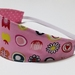 "Reversible Fabric Headband ""The pretty flowers"""