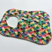 """Organic Bamboo Terry Cotton Baby Bib """"The Very Hungry Caterpillar Abstract Dots"""""""