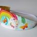 "Reversible Fabric Headband ""Unicorn with Rainbow"""