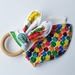 """Natural & Wooden Teething Ring with fabric replacement """"The Very Hungry Caterpillar"""""""