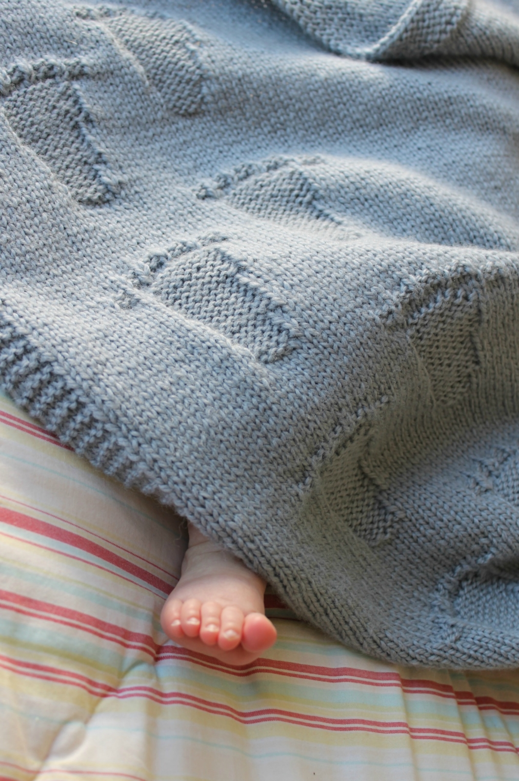 Knitted Blanket Patterns Nz : Baby Steps Blanket- Knitting Pattern PDF Felt