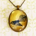 Large fantail pendant necklace - from original art work.