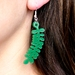 kowhai leaf green acrylic earrings