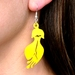 kowhai flower yellow acrylic earrings