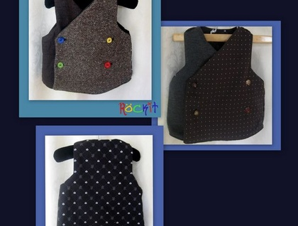 Vintage Gangster Vest - wear it 4 different ways
