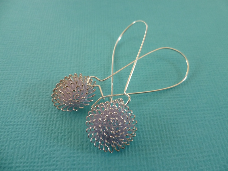 dandelion earrings felt