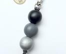 Wooden Bead Keyring / Bag Accessory